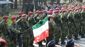 Escolta del 3er. Batallon de Fusileros Paracaidistas al inicio de la Ceremonia.