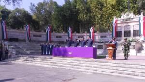 La Ceremonia fue presidida por el Gral. de Ala D.E.M.A. Carlos Antonio Rodriguez Munguia, Comandante de la Base Aérea Militar No. 1.