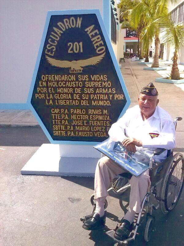 Veterano Sgto. 1/o. Trans. Ret. Francisco Elías Díaz Aguayo en las instalaciones de la Base Aérea Militar No. 4 en Cozumel, Quintana Roo el pasado 10 de febrero.
