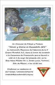 Invitación a la Ceremonia de Premiación a realizarse en la Base Aérea No. 1, Santa Lucia, Mex.