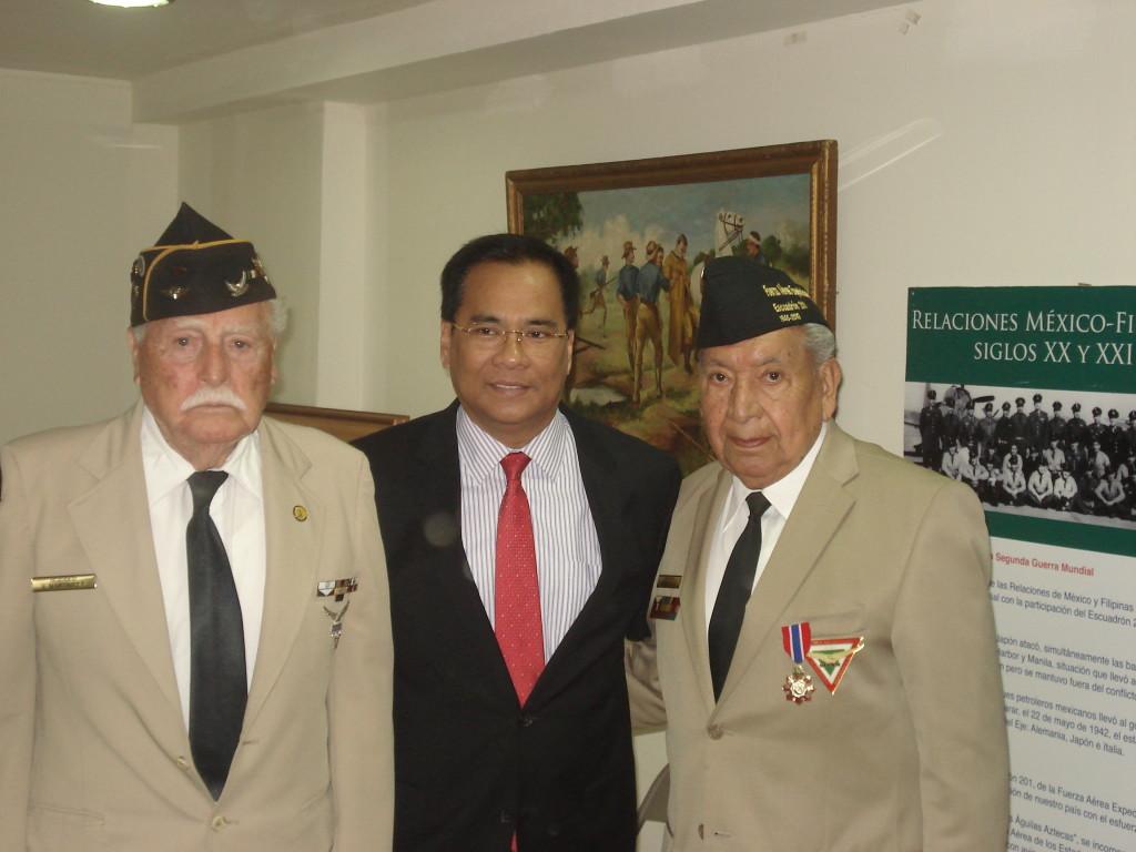 Recepción a los miembros de la Asociación Mexicana de Veteranos de la II Guerra Mundial A.C. por parte del Embajador de Filipinas,  Catalino Reinante Dilem el pasado 19 de marzo.