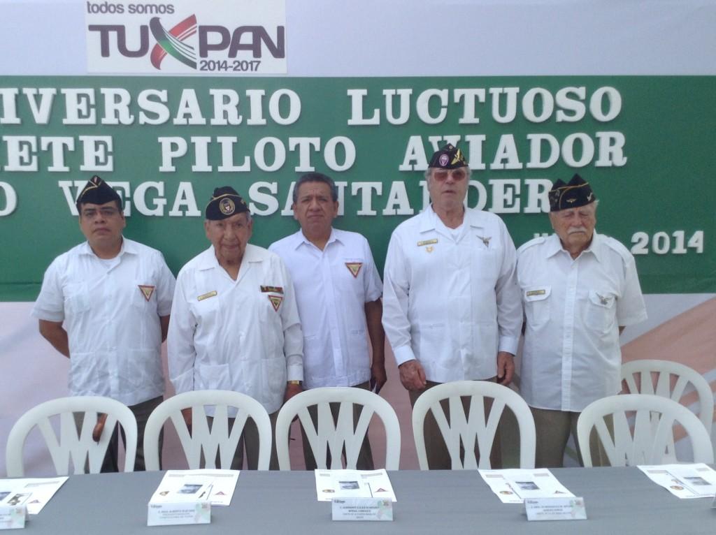 El pasado 1ro. de junio se celebro la Ceremonia  por el 69 Aniversario Luctuoso del Subtte. P.A. Fausto Vega Santander, asistieron a la misma Veteranos de la Asociación Mexicana de Veteranos de la II Guerra Mundial A.C.