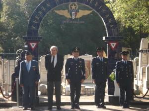 La ceremonia se llevo a cabo el 19 de julio en el Panteón Civil de Dolores. Encabezo la Ceremonia el Gral. de Ala P.A. DEMA. Adelaido de la Sancha Villa, Comandante de la BAM. 1. Santa Lucía, Méx.