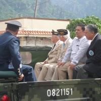 Presidente Municipal de Tepoztlán, Morelos acompañando a los Veteranos de la FAEM.