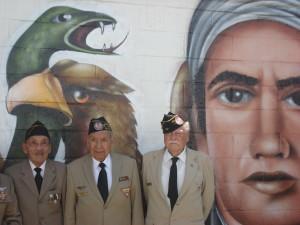 """El pasado 6 de octubre, miembros  de la Asociación Mexicana de Veteranos de la II Guerra Mundial A.C. realizaron la donación de la replica de la Bandera de la FAEM a la Escuela Primaria """"Generalísimo Morelos"""" del Municipio de Villa Nicolás Romero, Estado de México."""