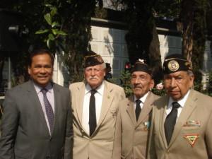 Veteranos en compañía del Excelentísimo Embajador de la República de Filipinas, C. Catalino Reinante Dilem Jr.