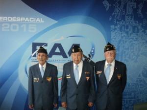 De izq. a derecha; Sgto. 1/o. Trans. Ret. Humberto Castilleja Albarrán, Sgto. 1/o. Arm. Ret. Fortino González Gudiño y Sgto. 2/o. Int. Ernesto Martínez Trujillo.