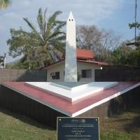 """Obelisco """"CENTENARIO DE LA FUERZA AÉREA MEXICANA"""" dentro de la BAM 6."""