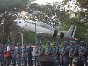 Aeronave pintada como el P-47 que utilizo la FAEM Escuadrón 201 durante la II Guerra Mundial.