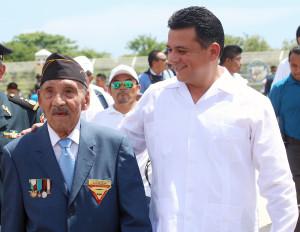 Sgto. 1/o. Trans. Ret. Horacio castilleja Albarrán, miembro de la Asociación Mexicana de Veteranos de la II Guerra Mundial A.C.