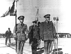 El Gral. Div. Francisco L. Urquizo a la toma de protesta.